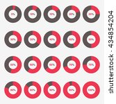 set template icon pie red and... | Shutterstock .eps vector #434854204