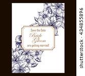 romantic invitation. wedding ...   Shutterstock .eps vector #434855896