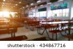 restaurant or cafeteria... | Shutterstock . vector #434867716