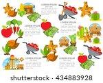 set of infographics on farming. ... | Shutterstock .eps vector #434883928
