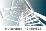 building structure abstract  3d ... | Shutterstock .eps vector #434884828