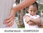 mother scolding a naughty child ...   Shutterstock . vector #434892424