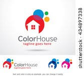 color house logo template... | Shutterstock .eps vector #434897338
