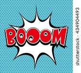boom    comic speech bubble ... | Shutterstock .eps vector #434904493
