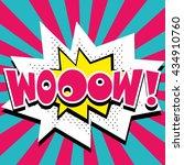 woow    comic speech bubble ... | Shutterstock .eps vector #434910760