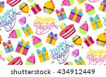 happy birthday vector... | Shutterstock .eps vector #434912449