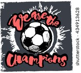 soccer ball grunge graffiti...   Shutterstock .eps vector #434913628