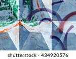 beautiful street art of...   Shutterstock . vector #434920576