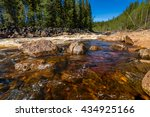 landscape with river  rapids... | Shutterstock . vector #434925166