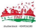 Italian Flag Ink Background...