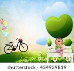 children living open grasslands ... | Shutterstock . vector #434929819
