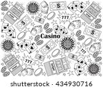 casino design colorless set... | Shutterstock . vector #434930716