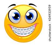 vector illustration of smiley... | Shutterstock .eps vector #434933959