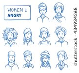 collection of angry women. set... | Shutterstock .eps vector #434934268