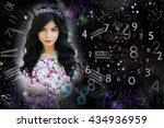 woman's face  magic of figures  ... | Shutterstock . vector #434936959