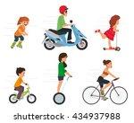 set of sport characters. sport... | Shutterstock .eps vector #434937988