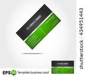 abstract green business card | Shutterstock .eps vector #434951443
