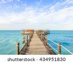 zanzibar northern beach pier... | Shutterstock . vector #434951830