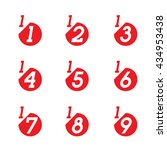 vector math fractions icons on... | Shutterstock .eps vector #434953438
