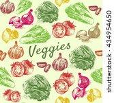 vector vintage illustration of... | Shutterstock .eps vector #434954650