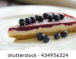 raw vegan cheesecake with... | Shutterstock . vector #434956324