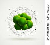 abstract molecular structure... | Shutterstock .eps vector #434970130