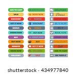 web element shop button... | Shutterstock .eps vector #434977840