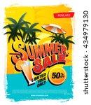 summer sale template banner | Shutterstock .eps vector #434979130