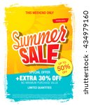 summer sale template banner | Shutterstock .eps vector #434979160