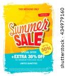 summer sale template banner | Shutterstock .eps vector #434979160