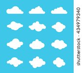 clouds sky heaven icon symbol... | Shutterstock . vector #434979340