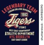 vintage nyc brooklyn tigers...   Shutterstock .eps vector #434980090