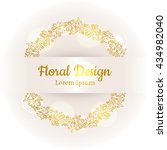 hand drawn floral vector... | Shutterstock .eps vector #434982040