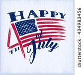 4th of july. american... | Shutterstock .eps vector #434983456