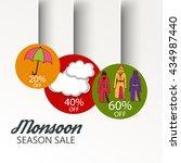 vector illustration of sale ... | Shutterstock .eps vector #434987440