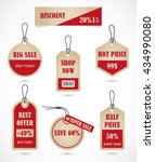 vector stickers  price tag ... | Shutterstock .eps vector #434990080