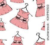 the pattern of the dress.... | Shutterstock .eps vector #434990503