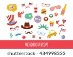 costume props for independence... | Shutterstock .eps vector #434998333