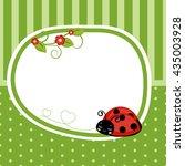 Greeting Card With Ladybug....