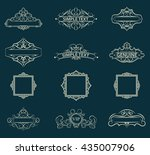 exclusive decor elements or...   Shutterstock .eps vector #435007906