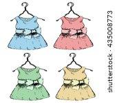 dress on a hanger. set of... | Shutterstock .eps vector #435008773