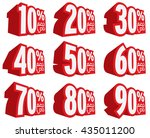 vector sale icon set. discount... | Shutterstock .eps vector #435011200