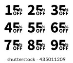 vector sale icon set. discount... | Shutterstock .eps vector #435011209