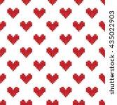 geek valentine's day pixel...   Shutterstock .eps vector #435022903