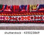 wool handmade carpet. partly... | Shutterstock . vector #435023869