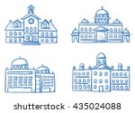 set of different official... | Shutterstock .eps vector #435024088