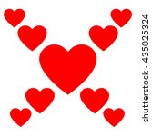 love hearts  a collection of... | Shutterstock .eps vector #435025324