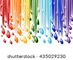 color streams and drops on a... | Shutterstock .eps vector #435029230
