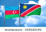 azerbaijan flag with namibia... | Shutterstock . vector #435030190