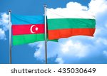 azerbaijan flag with bulgaria...   Shutterstock . vector #435030649